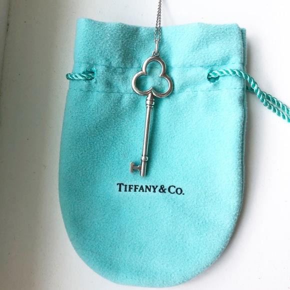 Tiffany & Co. Jewelry - Tiffany & Co Trefoil Key necklace